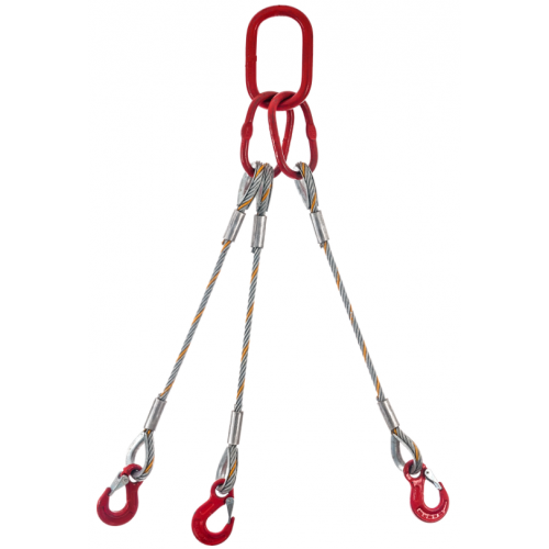 Wire rope sling 3-leg type F