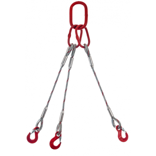 Wire rope sling 3-leg type Fv