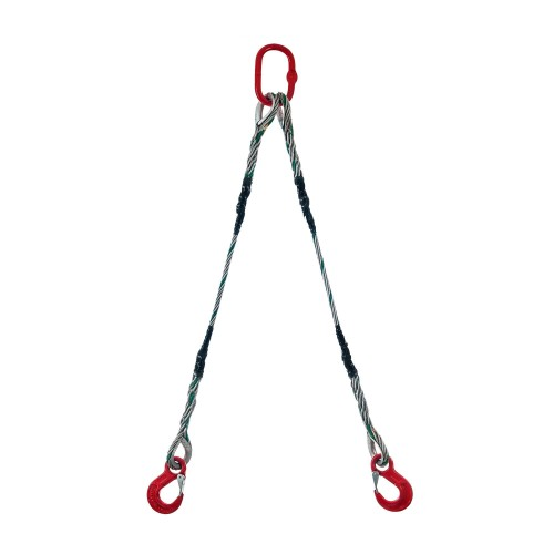 Wire rope sling 2-legs type S