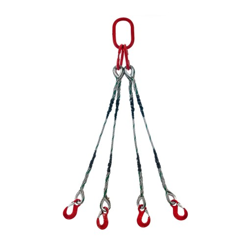 Wire rope sling 4-legs type S